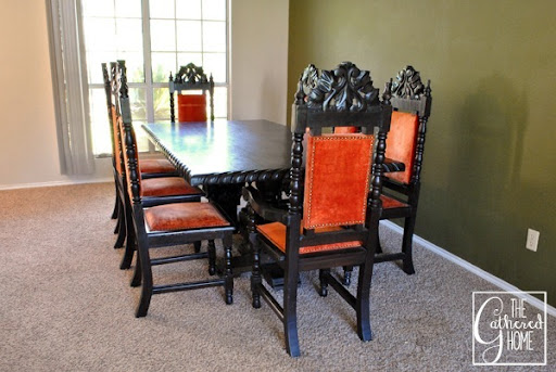 Found: Vintage Mexican Carved Dining Set