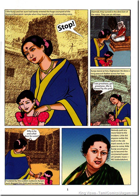Heritage Press Picture of Melody 01 MS Subbulakshmi Dated June 2011 Story 1st Page