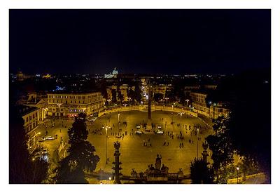 Rom: Geocaching über Silvester - Piazza del Popolo: Blick von der Terrasse