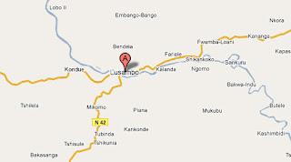 Carte de Lusambo au Ksaï Occidental