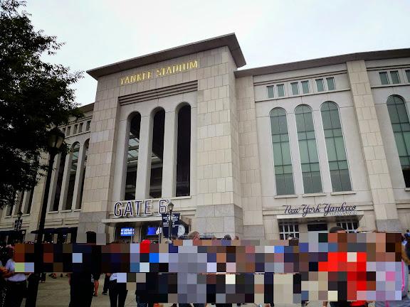 ヤンキースタジアムに着いた!