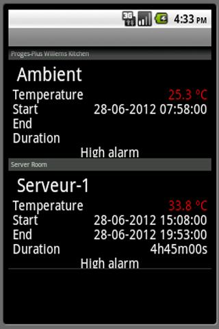 ThermoTrack Webserve - screenshot
