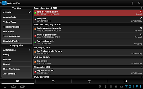 WotsNext - To-do / Task List- screenshot thumbnail