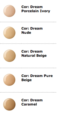 Cores Base Maybelline Viva Dream