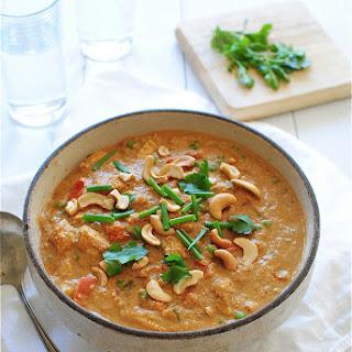 Creamy Indian Cashew Chicken.