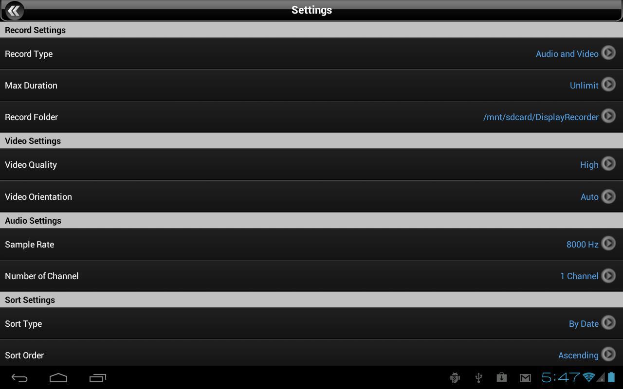 Display Recorder - screenshot