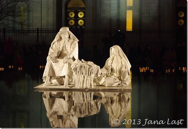 Nativity Scene in front of the Salt Lake Temple