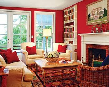 Warna cat rumah Merah