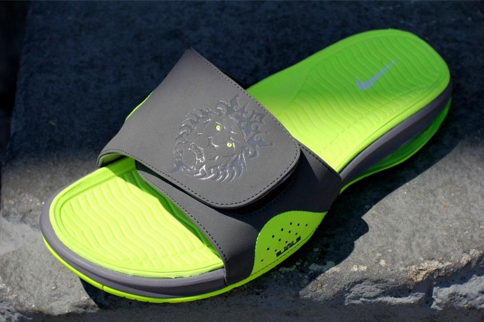 419f9cc11 ... Nike Air LeBron Slide 487332007 Cool Grey Volt ...
