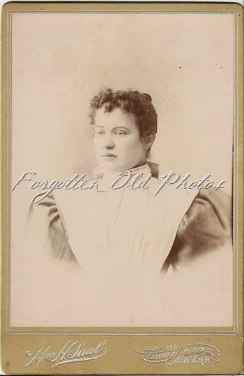 Cabinet Card Lady with huge shouldered dress Duluth