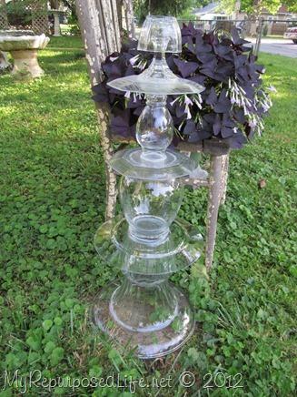 repurposed glassware (totem)