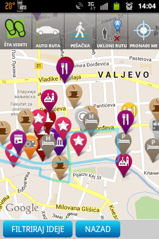 pasterova 14 beograd mapa Turistički Vodič kroz Valjevo   Applications Android sur Google Play pasterova 14 beograd mapa