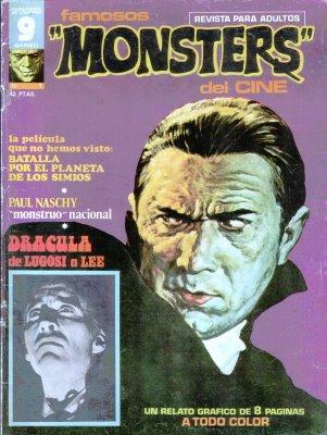 """Portada de la revista """"Famosos Monstruos del Cine"""""""