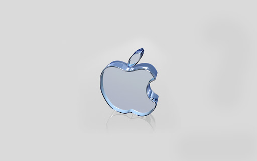 Apple Transparent White Glass