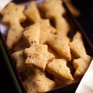 Almond Parmesan Shortbreads