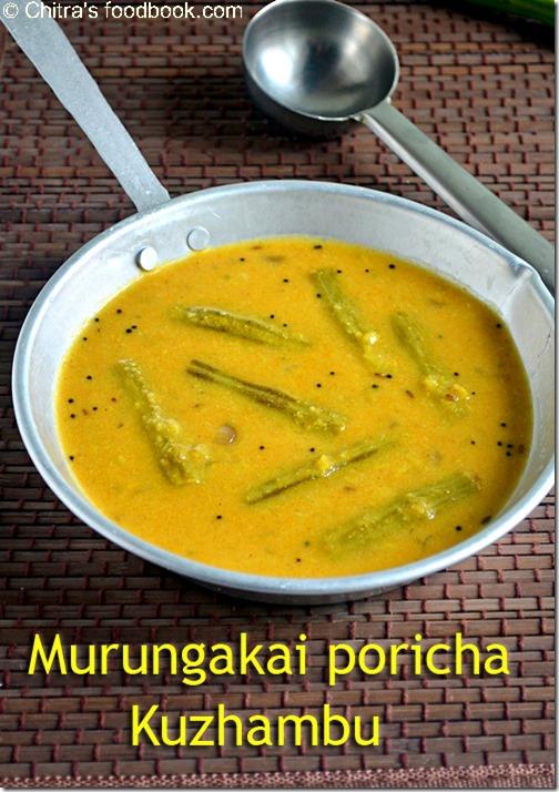murungakkai poricha kuzhambu
