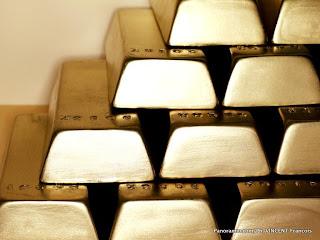 Des lingots d'or entreposés. Ph. Corbis