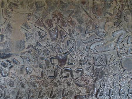 Obiective turistice Cambogia: basoreliefuri Angkor Wat