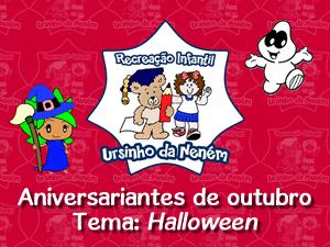 Aniversariantes de outubro - Halloween