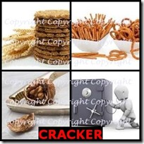 CRACKER- 4 Pics 1 Word Answers 3 Letters