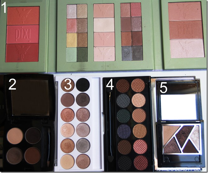 palettes numbered