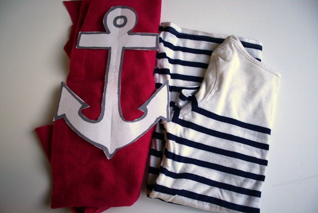 DIY Anchor applique tee tutorial-005