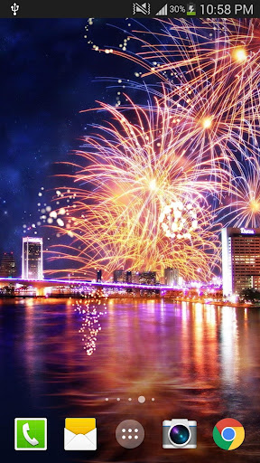 2019 Fireworks Live Wallpaper Free 1.0.5 screenshots 1