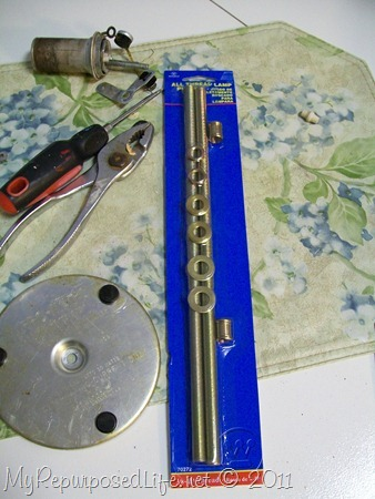 parts for coffee pot lamp