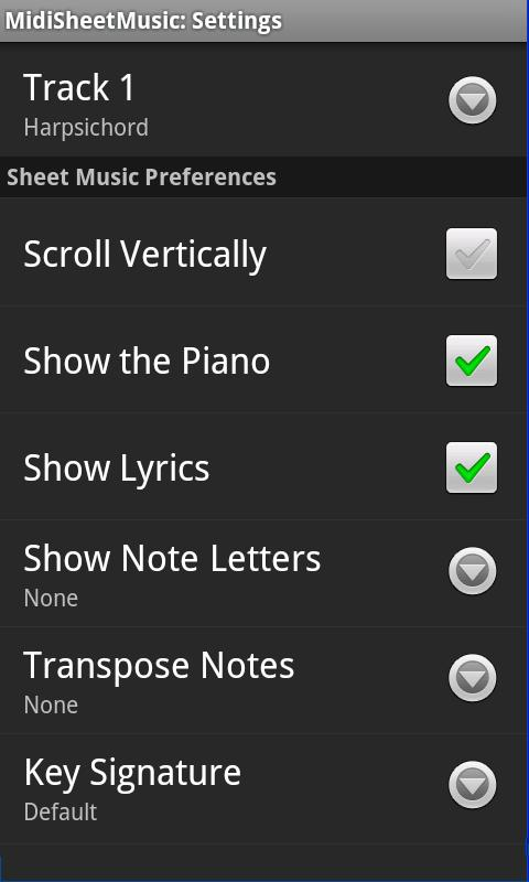 Midi Sheet Music - screenshot