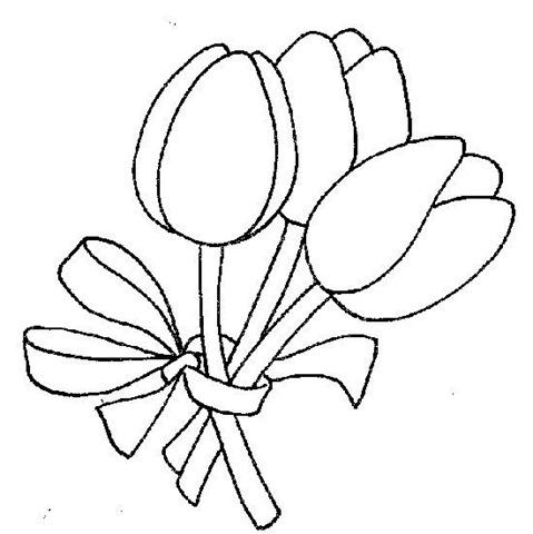 Desenhos Flores Com Laco Colorir E Pintar Qdb