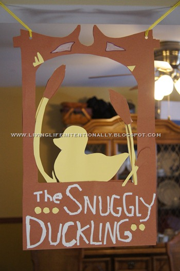 Tangled Birthday Party Snuggly Duckling Sign