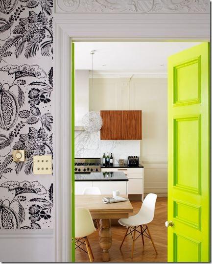 Neon Green Yellow Interior Door Via Lucas Allen