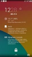 Screenshot of Sunny HK -Weather&Clock Widget