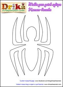 Patchwork moldes Homem-Aranha 2 para patch aplique