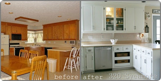 Kitchen Before After Thumb4. Kitchen Breakdown Sources And S 320 Sycamore. Painting  Kitchen Cabinets ...