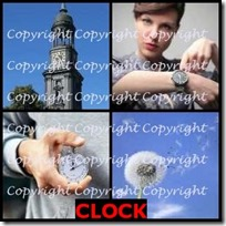 CLOCK- 4 Pics 1 Word Answers 3 Letters