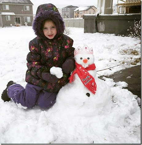 Saydee and snowman