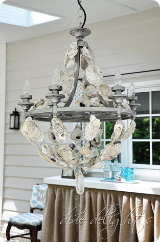shell home elegant over kitchen oyster island decorating chandelier office decor chandeliers ideas