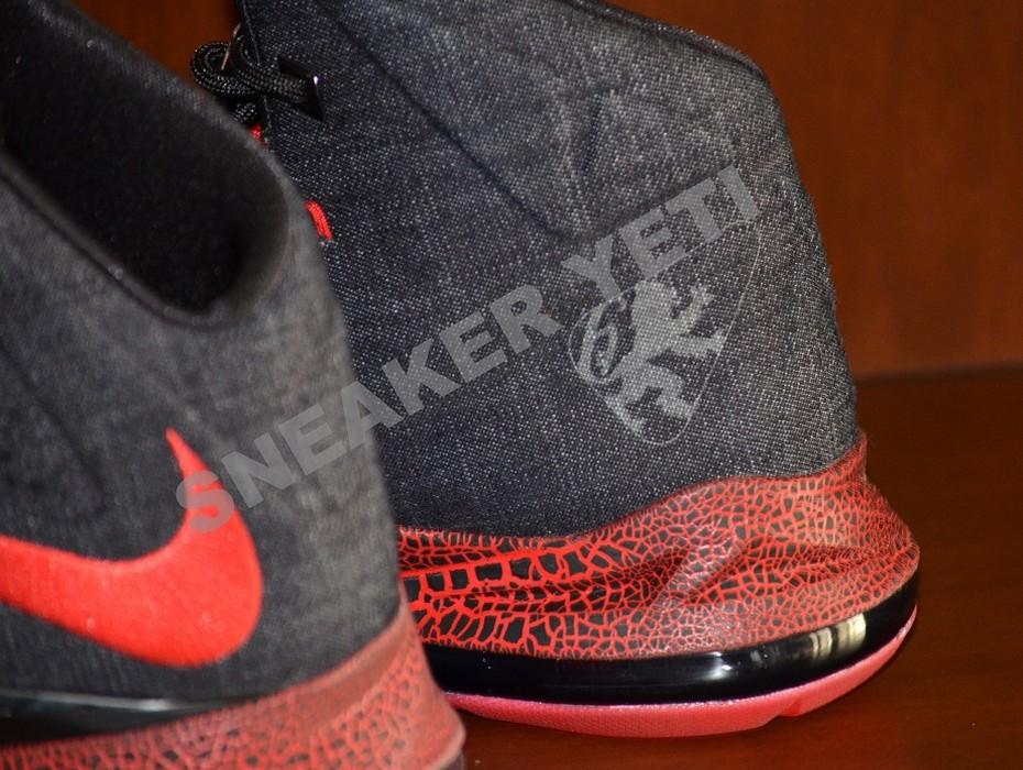 buy popular 64e27 2eb31 ... Detailed Look at Nike LeBron X NSW Black Denim PE ...