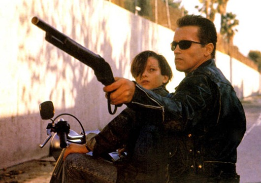 VARIOUS EDWARD FURLONG FILM STILLS...No Merchandising. Editorial Use Only. No Book Cover Usage<br /> Manadatory Credit: Photo by Everett Collection / Rex Features (422526a)<br /> TERMINATOR 2: JUDGMENT DAY, Edward Furlong and Arnold Schwarzenegger, 1991<br /> VARIOUS EDWARD FURLONG FILM STILLS<br /> <br />
