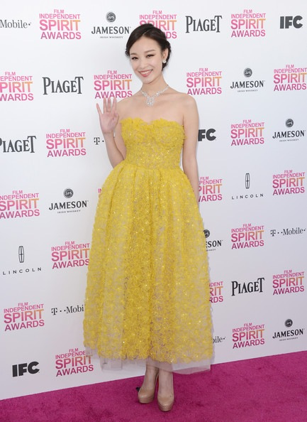 Ziyi Zhang attends the 2013 Film Independent Spirit Awards