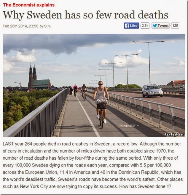 sweden safe roads