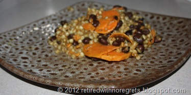 Buckwheat Groats Black Beans & Sweet Potato Pilaf - served III
