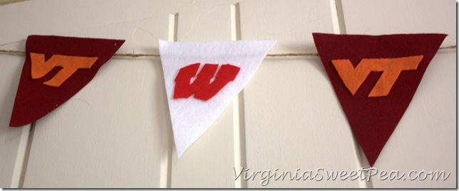 Virginia Tech and Wisconsin Pendant Banner