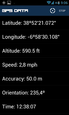 GPS Data - screenshot