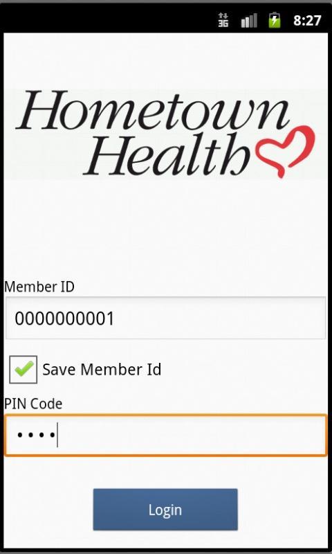 Hometown Health eCard- screenshot