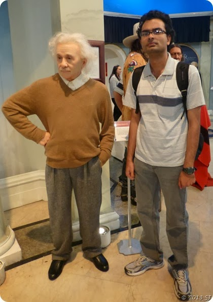 With Albert Einstein