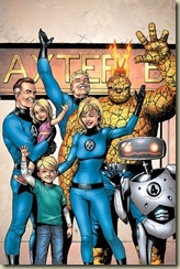 papa, mama, el tío graciosete, el amigo de la familia, los niños y el robot
