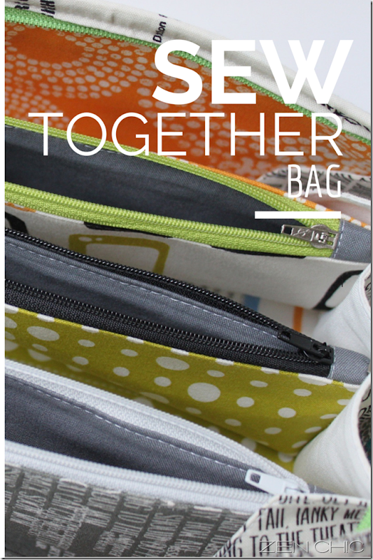 Sew Together Bag Reel Time, Zen Chic