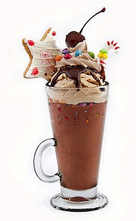 Swensens Christmas ice cream Chocolate Twinkle Star Cookie, Dip Cherry, Smarties, Candy Cane, Choc Cream, Choc Fudge, Sticky chewy choc ice cream  frosted choc malt ice cream